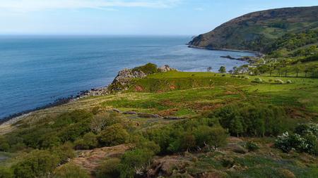 Wonderful Murlough Bay in North Ireland - aerial view - travel photography