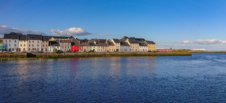 The colorful houses of Galway Claddagh in Ireland