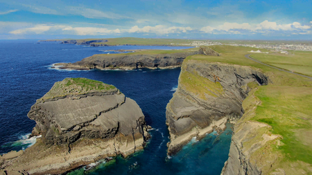 Awesome landscape at the Cliffs of Kilkee in Ireland - travel photography Stock Photo