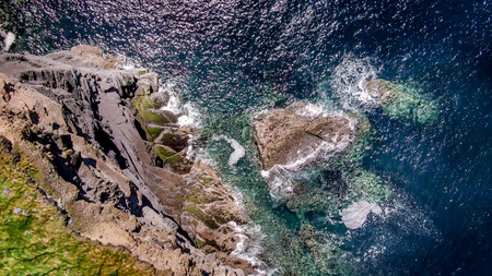Wild Atlantic Ocean from above - aerial drone footage - travel photography