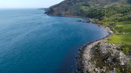 Murlough Bay in North Ireland - aerial view - travel photography