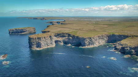 Awesome landscape at the Irish west coast - aerial drone footage - travel photography
