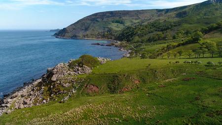 Wonderful Murlough Bay in North Ireland - aerial view - travel photography Reklamní fotografie