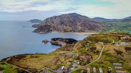 Beautiful Dunree Head in Ireland from above - travel photography