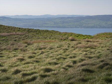 Walk over the infinite grasslands of Binevenagh in Northern Ireland