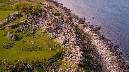 Murlough Bay in North Ireland - aerial view