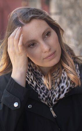 Beautiful 25 year old girl - close up shot