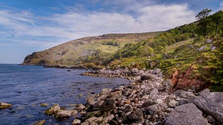 Flight over Murlough Bay in North Ireland - a beautiful landmark Reklamní fotografie