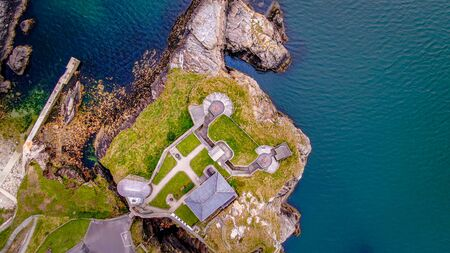 Fort Dunree in Ireland from above - aerial drone view