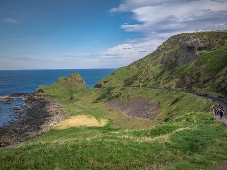Amazing landscape at the Causeway Coast in Northern Ireland Stock fotó