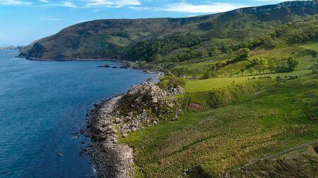 Flight over Murlough Bay in North Ireland - a beautiful landmark