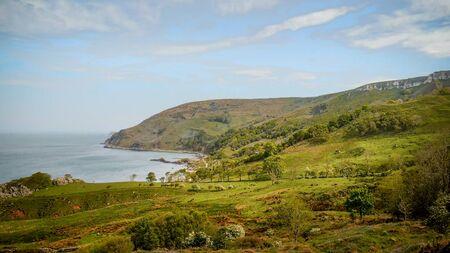 Murlough Bay in North Ireland - aerial view Reklamní fotografie