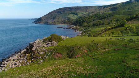 Wonderful Murlough Bay in North Ireland - aerial view