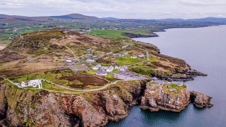 Beautiful Dunree Head in Ireland from above
