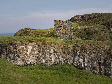 The ruins of Dunseverick castle in Northern Ireland