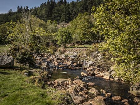 Small creek in the Wicklow mountains in Ireland Stock fotó