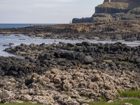 Giants Causeway in North Ireland is a popular landmark at the coast Stock fotó