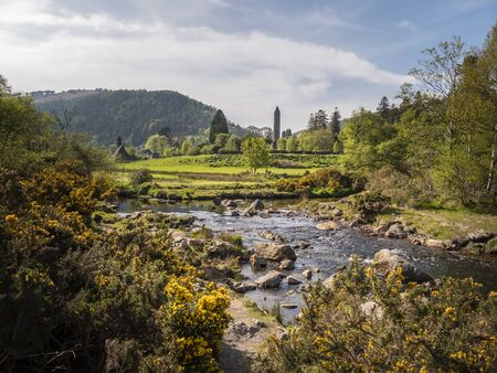 Small creek art Glendalough in the Wicklow Mountains Ireland