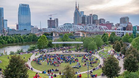 Open Air Music performance at Cumberland Park in Nashville