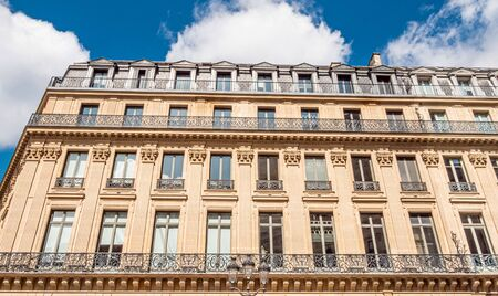 Beautiful house facade in the streets of Paris