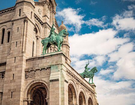 Famous Sacre Coeur Cathedral in Paris Reklamní fotografie