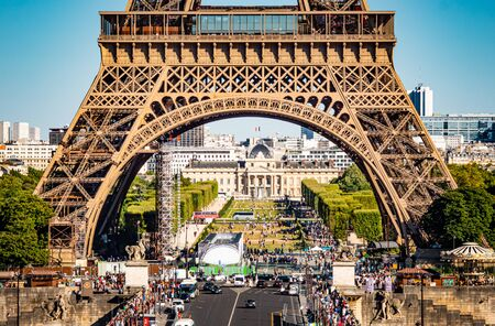 Eiffel Tower and Military School in Paris