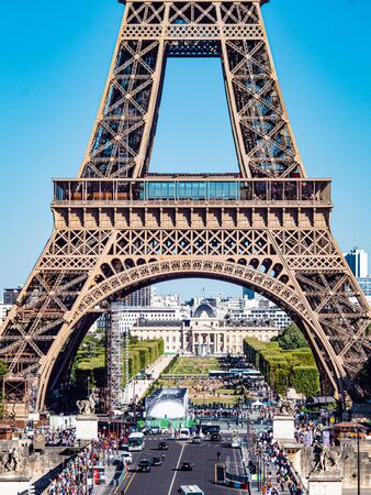 Eiffel Tower in Paris - view from Trocadero