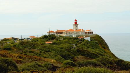 Natural Park of Sintra at Cape Roca in Portugal called Cabo de Roca - travel photography Stok Fotoğraf - 133444203