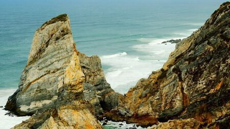 Natural Park of Sintra at Cape Roca in Portugal called Cabo de Roca - travel photography Stok Fotoğraf
