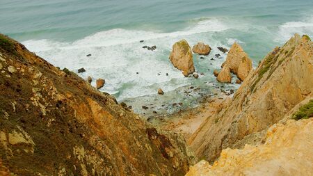 Natural Park of Sintra at Cape Roca in Portugal called Cabo de Roca - travel photography Stok Fotoğraf - 133476990