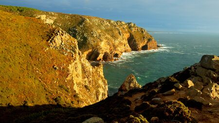 Sunset over Cape Roca in Portugal - the most western point of Europe - travel photography