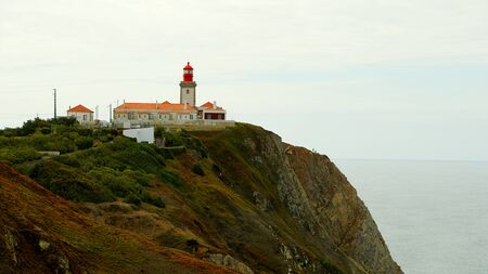 The lighthouse of Cabo Da Roca in Portugal - travel photography Stok Fotoğraf - 133477050