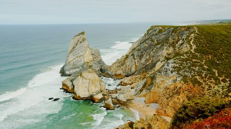 Natural Park of Sintra at Cape Roca in Portugal called Cabo de Roca - travel photography Stok Fotoğraf - 133477133
