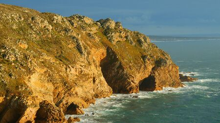 Sunset over Cape Roca in Portugal - the most western point of Europe 版權商用圖片