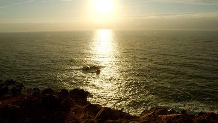 Amazing coast of Cabo Da Roca in Portugal at sunset