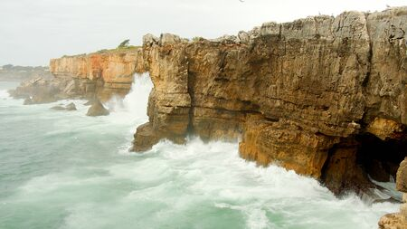 Famous landmark in Portugal - Boca Do Inferno at the Atlantic ocean