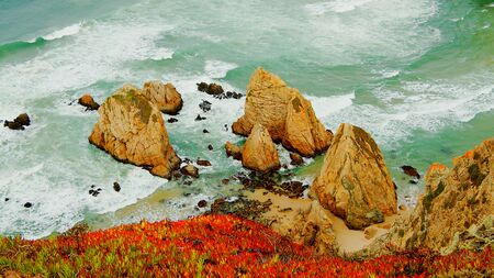 Natural Park of Sintra at Cape Roca in Portugal called Cabo de Roca