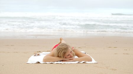 Summer vacation at the beach - typical view