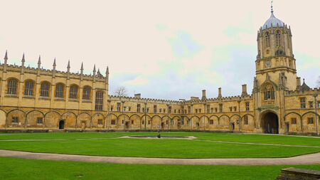 Christ Church Cathedral and Oxford University in Oxford England - OXFORD, ENGLAND - JANUARY 3, 2020