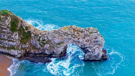 The beautiful English South Coast from above - drone footage Banco de Imagens