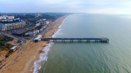 Bournemouth beach and pier in England