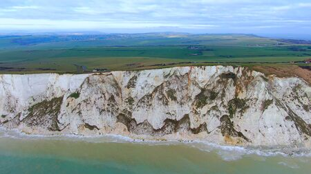 The beautiful English South Coast from above - drone footage -aerial photography Banco de Imagens