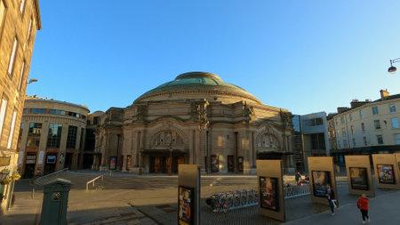 Famous Usher Hall - cityscapes of Edinburgh - EDINBURGH, UNITED KINGDOM - JANUARY 11, 2020