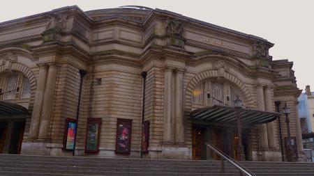 Famous Usher Hall in Edinburgh - EDINBURGH, SCOTLAND - JANUARY 10, 2020