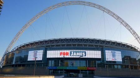 Wembley Stadium London main entrance - LONDON, ENGLAND - DECEMBER 10, 2019 Editorial