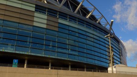 famous football stadium in Wembley London - LONDON, ENGLAND - DECEMBER 10, 2019