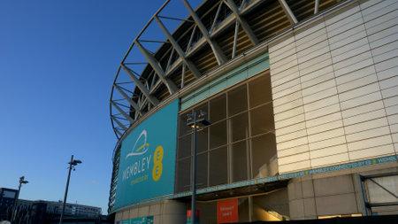 football stadium in Wembley London - LONDON, ENGLAND - DECEMBER 10, 2019