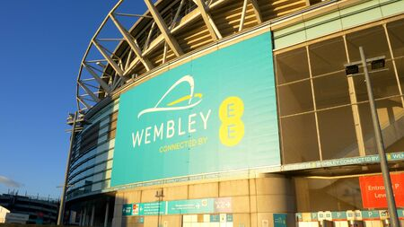 Wembley Arena in London the famous football stadium - LONDON, ENGLAND - DECEMBER 10, 2019 Editorial