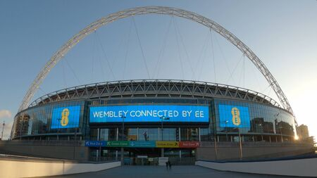 Wide angle view over Wembley stadium in London - LONDON, ENGLAND - DECEMBER 10, 2019