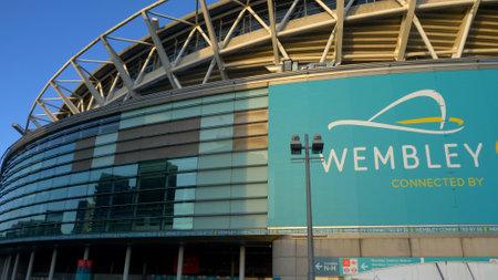 Wembley Arena in London football stadium - LONDON, ENGLAND - DECEMBER 10, 2019 Editorial